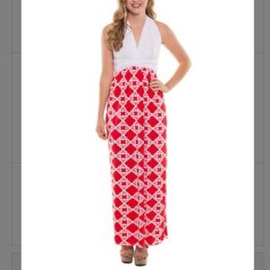 Coveted Clothing Quatrefoil Convertible Maxi Dress
